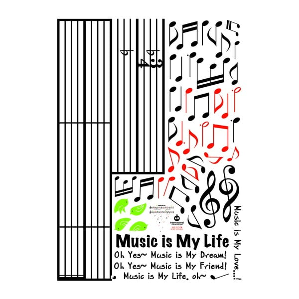 Samolepka Music Is My Life