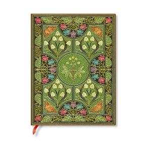 Nelinkovaný zápisník s mäkkou väzbou Paperblanks Poetry In Bloom, 18 x 23 cm