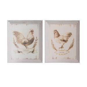 Sada 2 obrázkov Antic Line Chicken