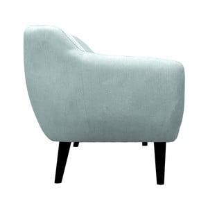 Modrozelené kreslo Mazzini Sofas Toscane, čierne nohy