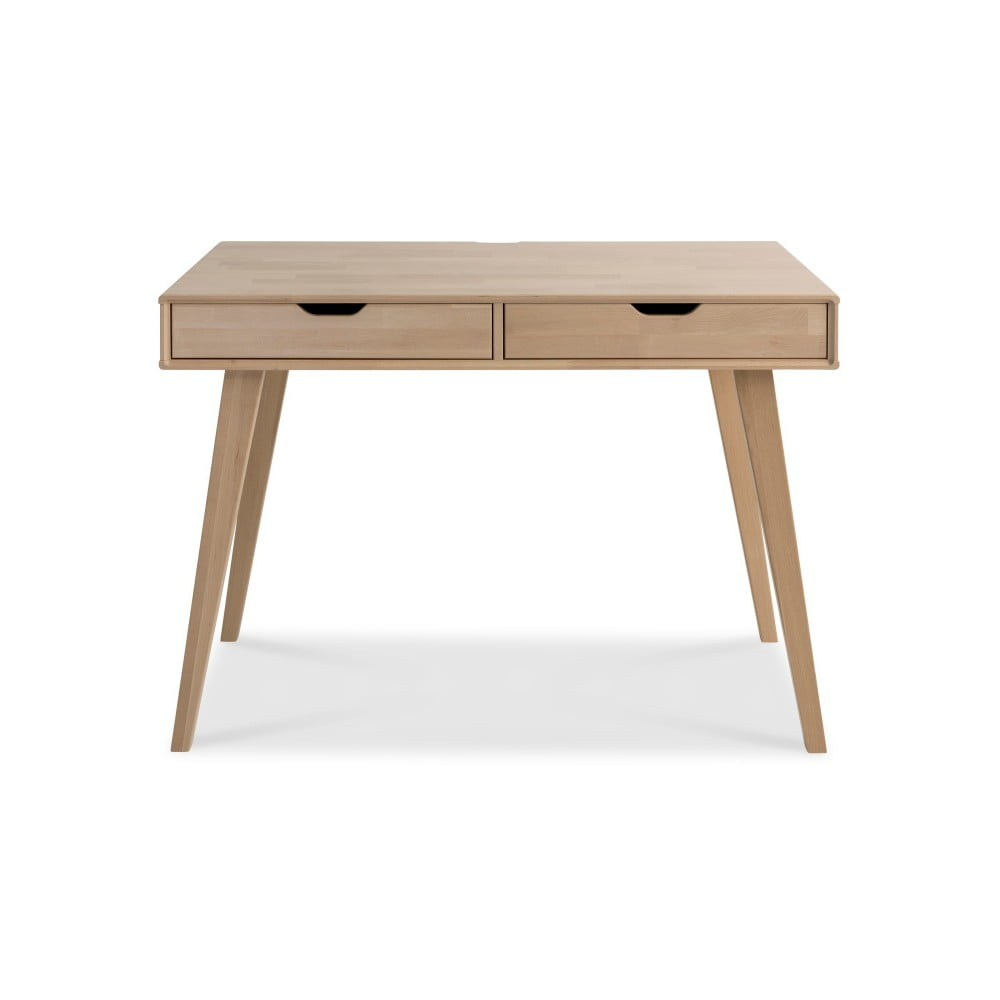 Ručne vyrábaný pracovný stôl z masívneho brezového dreva Kiteen Kolo