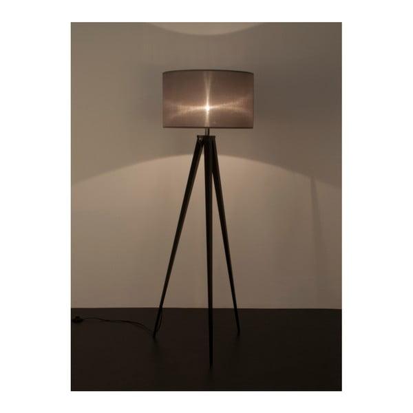 Čierno-sivá stojacia lampa Zuiver Tripod