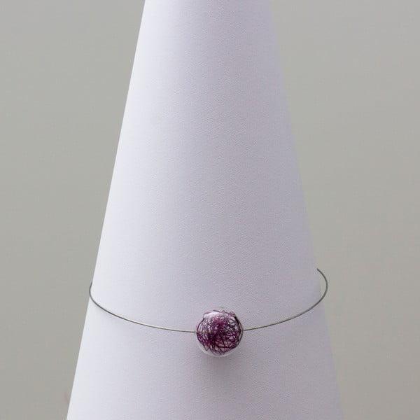 Sklenený náhrdelník ko-ra-le Wired, fialový