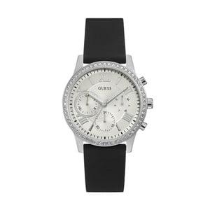 Dámske hodinky s čiernym silikónovým remienkom Guess W1135L5