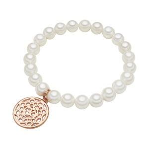 Náramok s bielou perlou ⌀8 mm Perldesse Mia, dĺžka 18 cm
