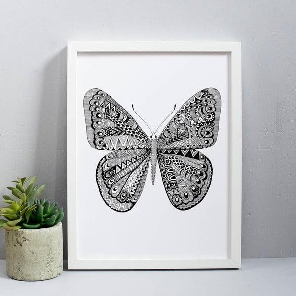 Plagát Karin Åkesson Design Butterfly Black, 30x40 cm