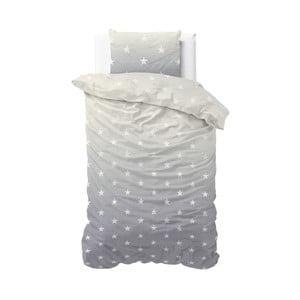 Sivé obliečky Sleeptime Twinkle Stars, 140×220 cm