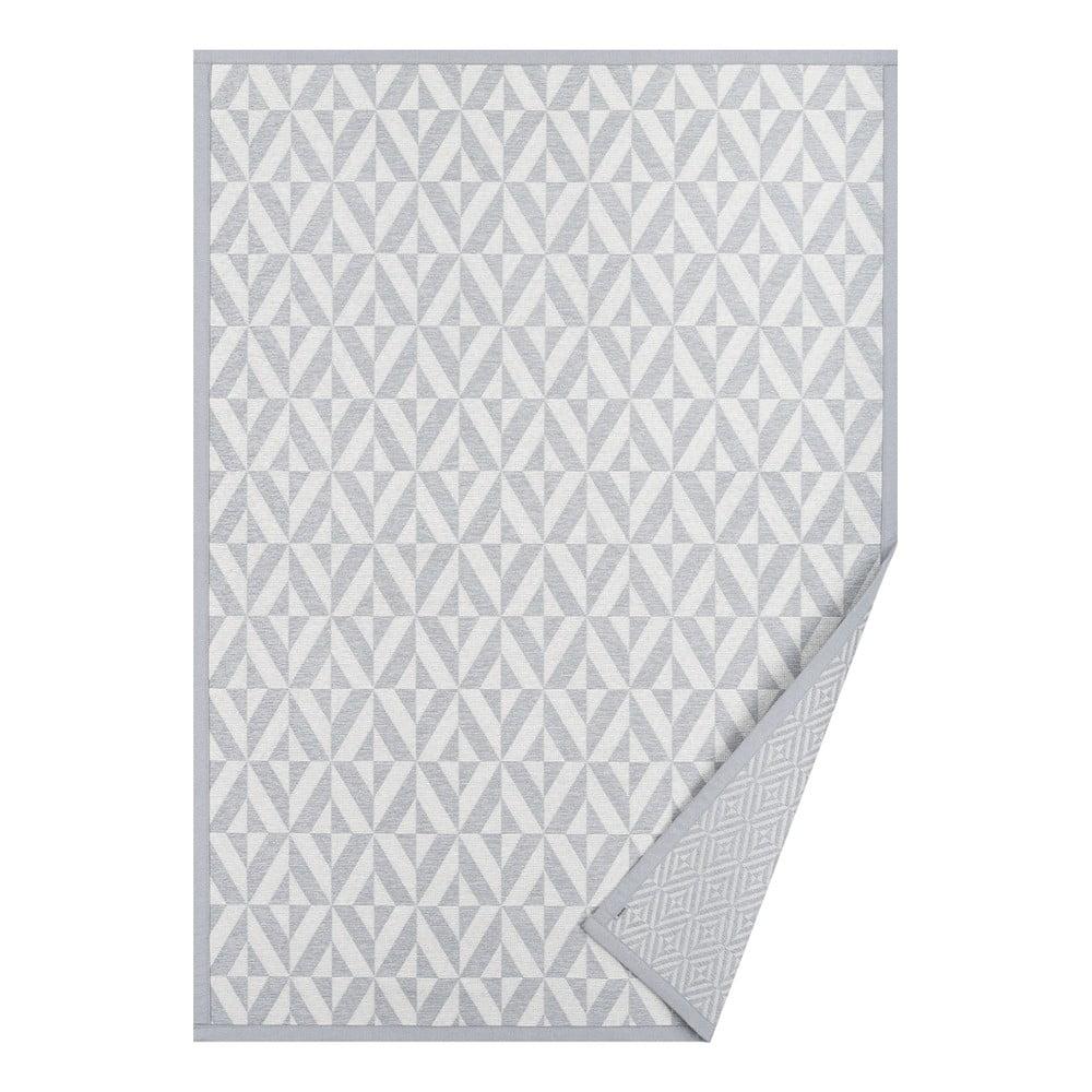 Sivý vzorovaný obojstranný koberec Narma Püha, 140 × 70 cm