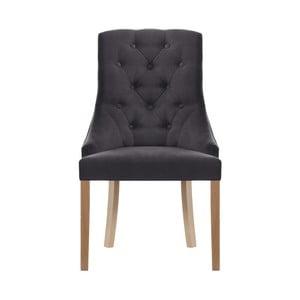 Antracitovosivá stolička Jalouse Maison Chiara