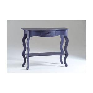 Fialový drevený konzolový stolík Sabine