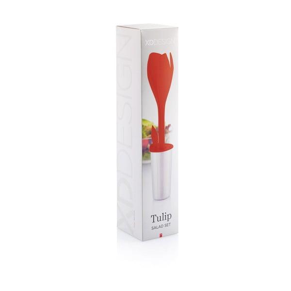 Červená sada na šalát XDDesign Tulip