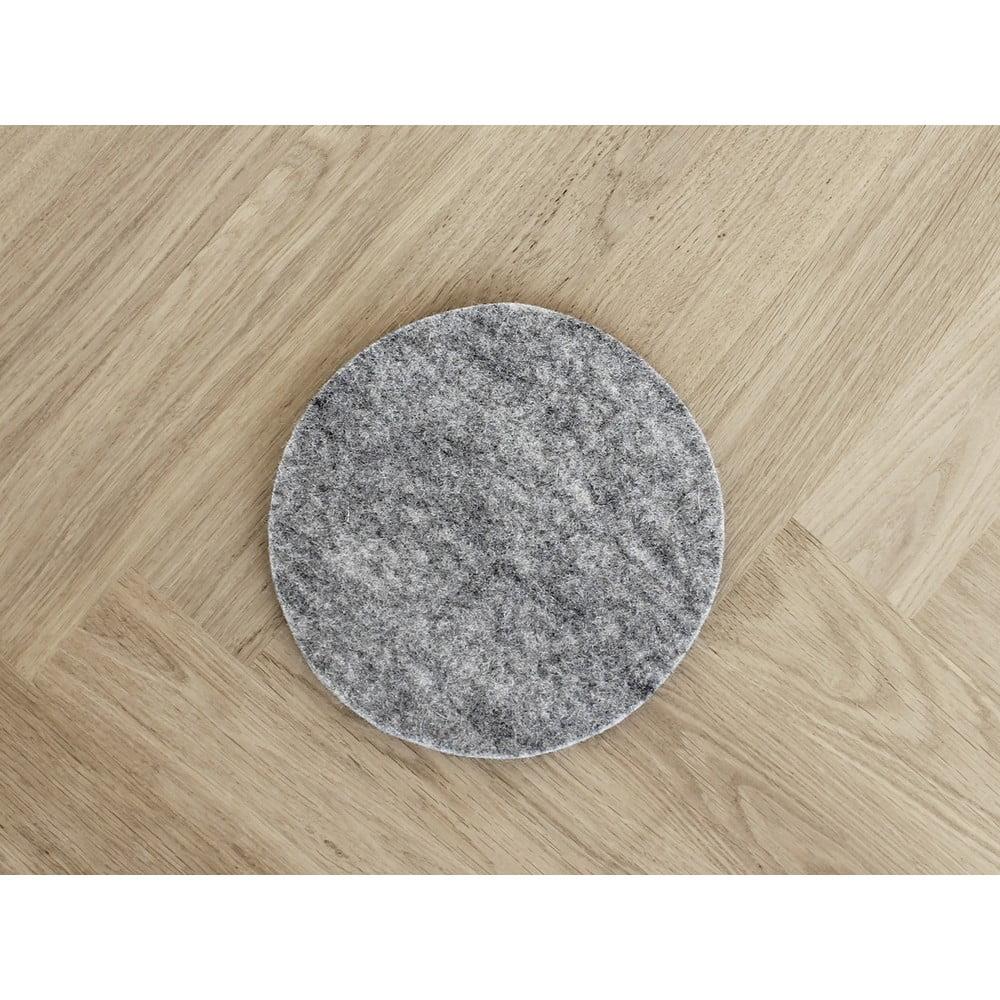 Oceľovosivá plstená podložka pod pohár z vlny Wooldot Felt Coaster, ⌀ 40 cm