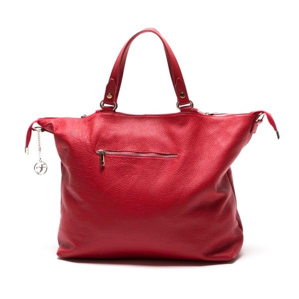 Kožená kabelka Fiora, červená