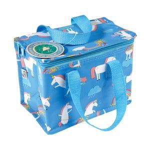 Modrá desiatová taška s motívom jednorožcov Rex London Magical Unicorn