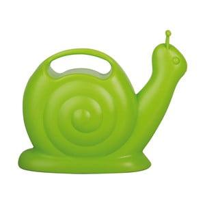 Zelená plastová konvička v tvare slimáka Ego Dekor
