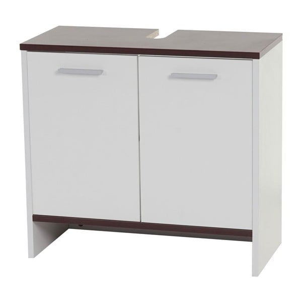 Kupeľňová skrinka Sonoma White/Brown, 28x60x56 cm