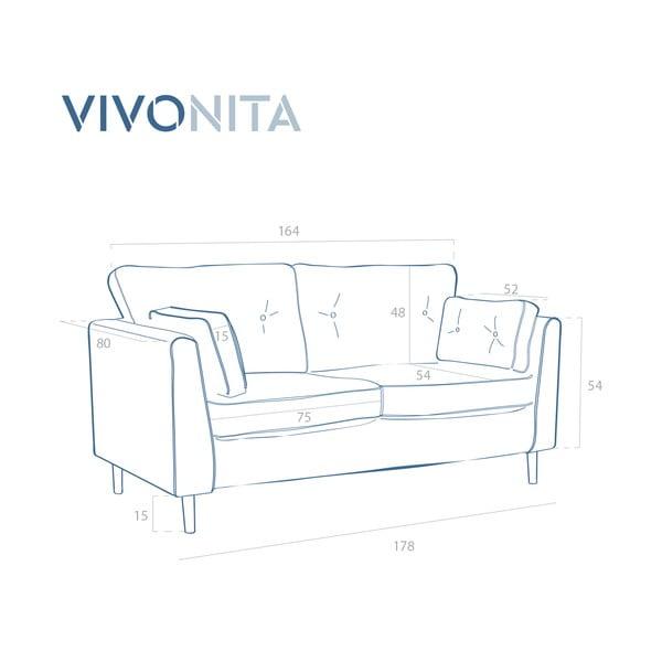 Svetlofialová trojmiestna pohovka Vivonita Portobello