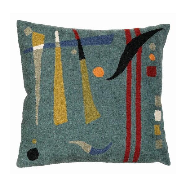 Obliečka na vankúš Teal Abstract, 45x45 cm