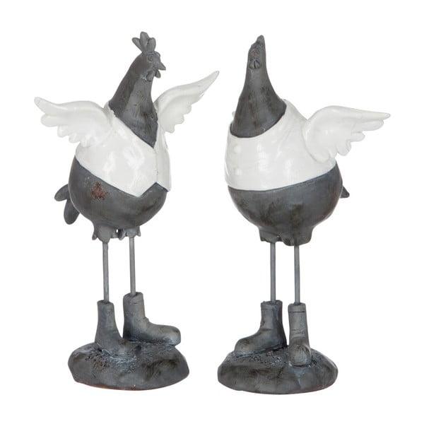 Sada 2 sošiek Tancujúce sliepočky, výška 17 cm