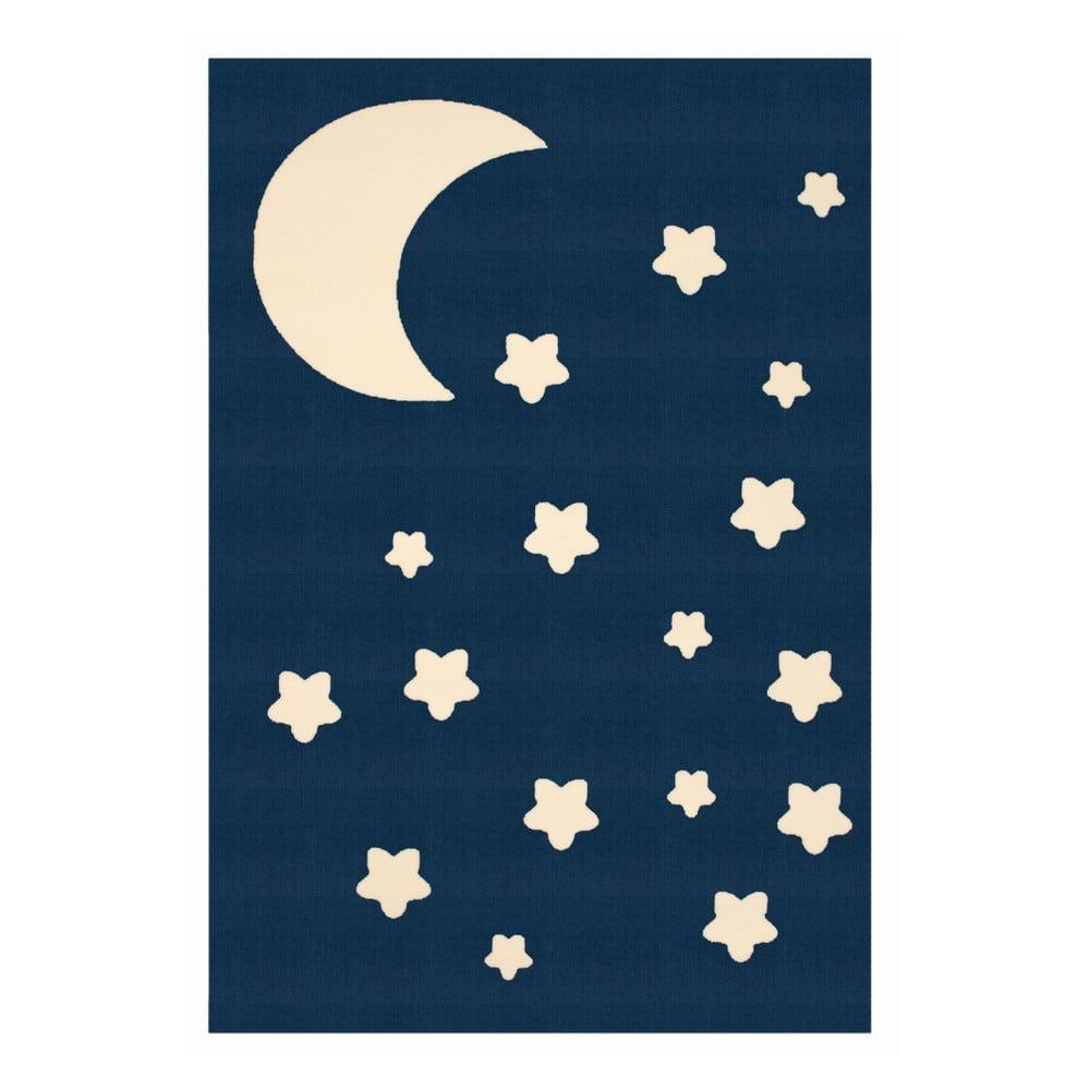 Detský tmavomodrý koberec Zala Living Night Sky, 140 × 200 cm