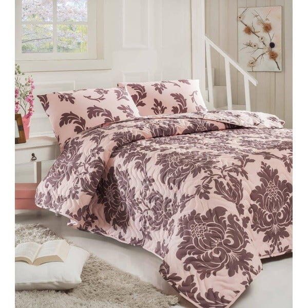 Sada prešívanej prikrývky na posteľ a dvoch vankúšov Single 329, 160x220 cm