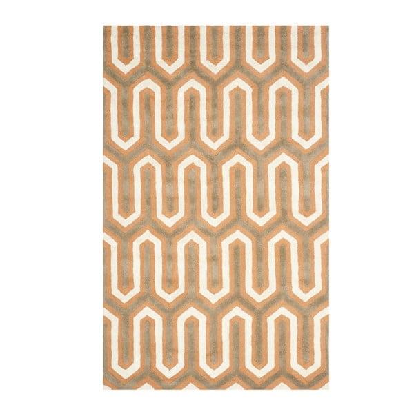 Oranžový vlnený koberec Safavieh Leta, 121 x 182 cm