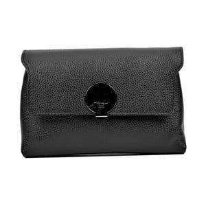 Čierna kožená kabelka Anna Luchini Mia