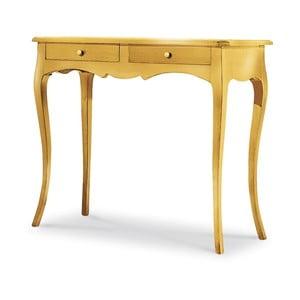 Drevený konzolový stolík v zlatej farbe Castagnetti