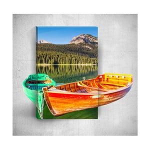Nástenný 3D obraz Mosticx Two Boats On The River, 40×60 cm