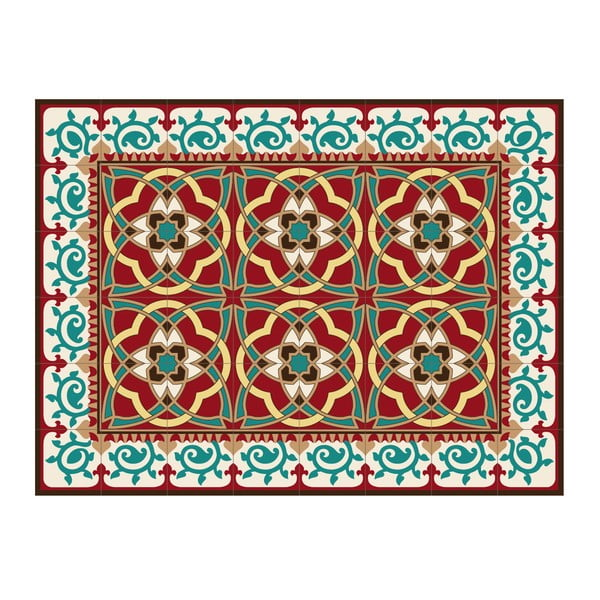Koberec z PVC Red Arabesque, 120x70 cm