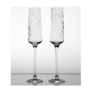 Ateliér Žampach, set 2 ks pohárov na šampanské Černucha