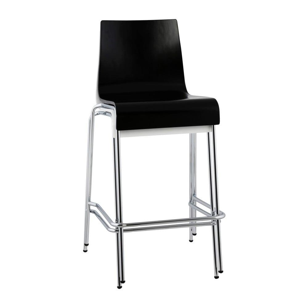 Čierna barová stolička Kokoon Cobe, výška 65 cm