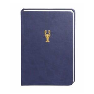 Tmavomodrý zápisník Portico Designs, 300 strán