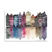 Plagát Americanflat Amsterdam by Claudia Libenberg, 30×42cm