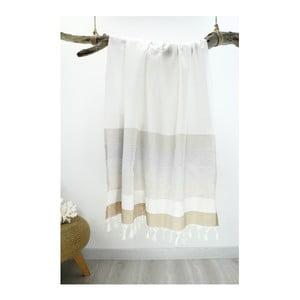 Osuška z čistej bavlny Hammam Strip Style, 90 x 180 cm