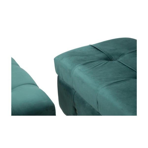 Set lavice a podnožky s úložným priestorom v zelenej farbe Mauro Ferretti Blam