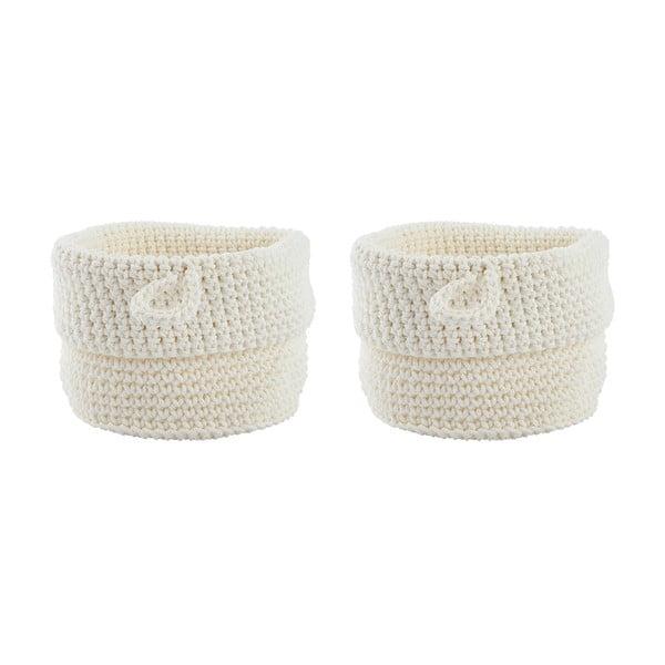 Sada 2 košíkov Confetti White, 13 cm