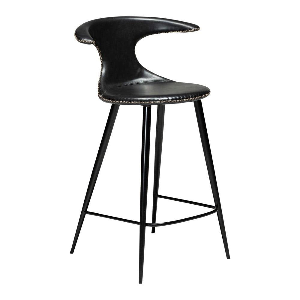 Čierna barová stolička z eko kože DAN–FORM Denmark Flair, výška 90 cm