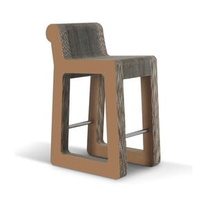 Barová kartónová stolička Knob Stool