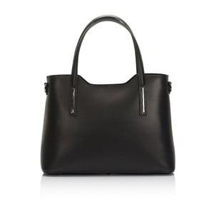 Čierna kožená kabelka Markese Terra