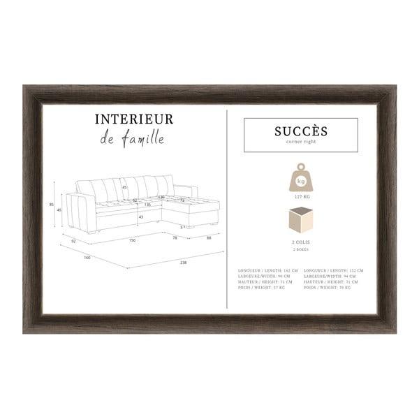Tyrkysovomodrá sedačka Interieur De Famille Paris Succes, pravý roh