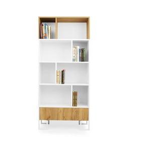 Knižnica z dubového dreva SKANDICA Hesse