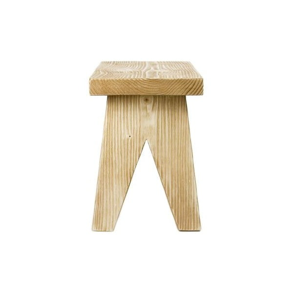Drevená stolička Stool, prírodné drevo