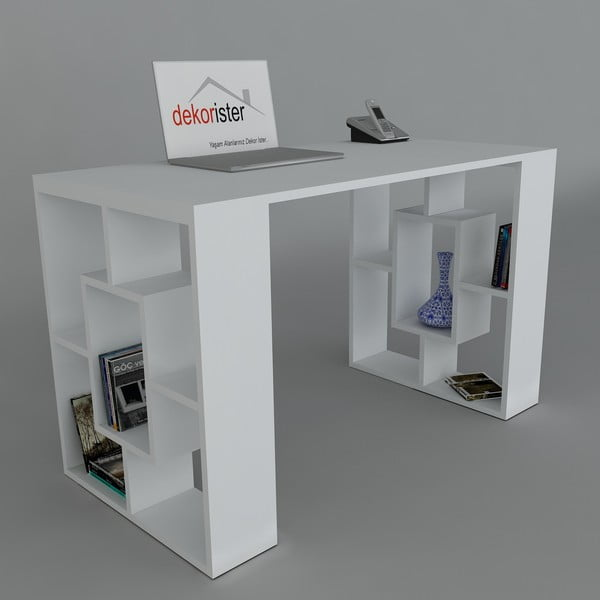Pracovný stôl Valencia White, 60x120x73,8 cm