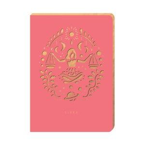 Linajkový zápisník Portico Designs Váhy, 160stránok