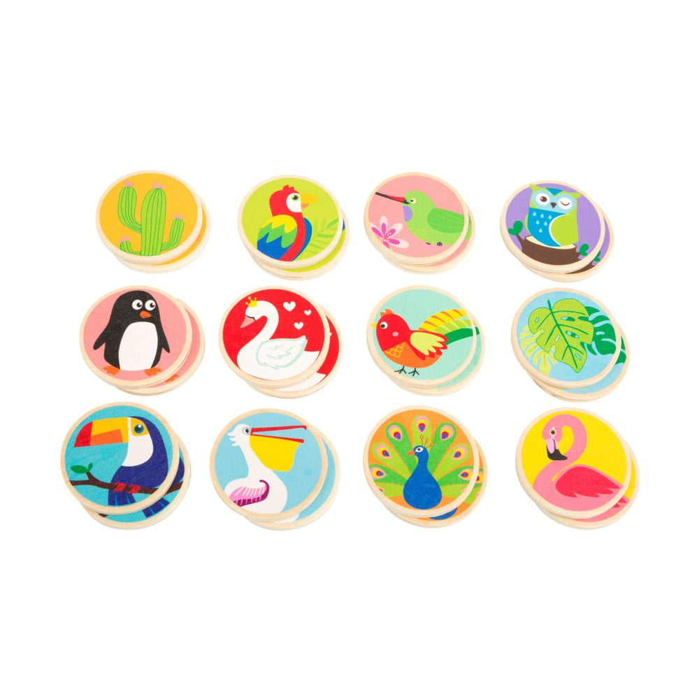 Detské drevené pexeso Legler Birds of the World