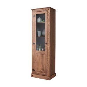 Tmavohnedá vitrína z borovicového dreva Støraa Alfredo