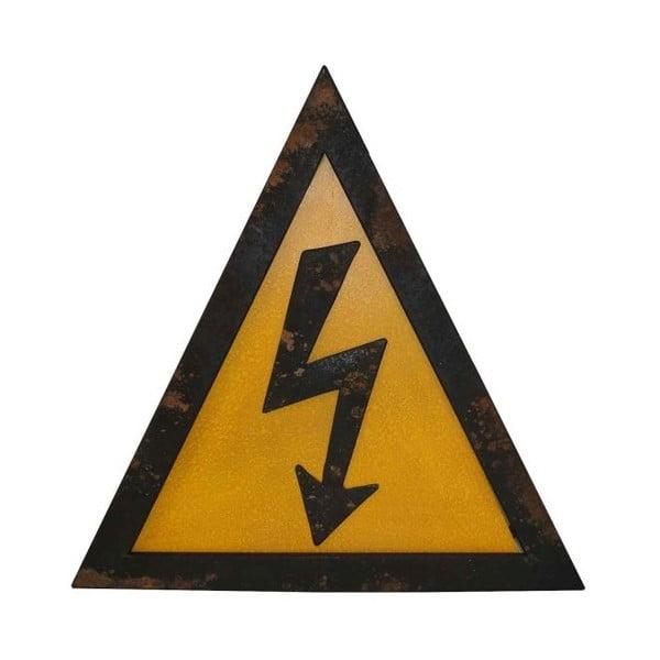 Kovová nástenná ceduľa Antic Line Electricite