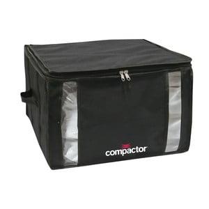 Čierny úložný box s vákuovým obalom Compactor Black Edition, objem 125 l