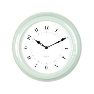 Zelené nástenné hodiny Karlsson Fifties, priemer 30cm